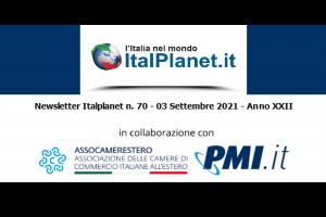 Newsletter ItalPlanet 3 settembre 2021