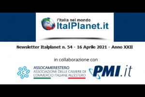 Newsletter ItalPlanet 16 aprile 2021