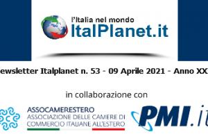 Newsletter ItalPlanet 9 aprile 2021